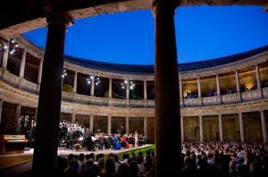 Palacio de Carlos V, uno de los escenarios del festival.