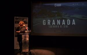 Fátima Gómez presenta la web filmgranada.com