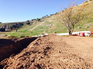 Terrenos de Alfacar donde se buscó la fosa de Lorca.