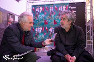 Carlos Iglesias durante la entrevista con el periodista Pedro Feixas.