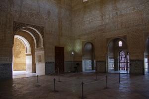Imagen de una de las estancias de la Alhambra en noviembre pasado, durante el segundo cierre del monumento.