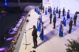 El Coro de Jóvenes de Madrid, en un concierto.