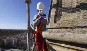Intervención y reparación de los pináculos y zonas afectadas de la Catedral