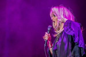 Bonnie Tyler, durante un concierto este verano en Madrid.