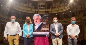Presentación del concierto de Plácido Domingo.
