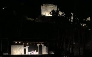 Representación en el bello escenario de El Majuelo.
