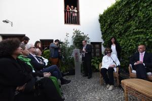 Acto celebrado en el Museo Casa-Natal de Federico García Lorca en Fuente Vaqueros.