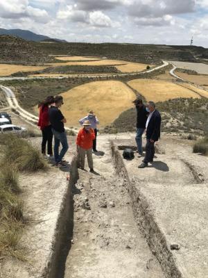 Villegas, durante la visita a los enclaves de Galera.