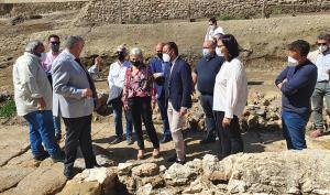 Del Pozo durante su visita a Guadix.