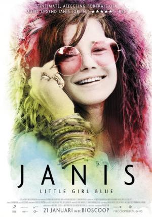 Cartel del documental sobre Janis Joplin.