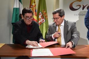 Luis García Montero y José Entrena en una imagen de archivo.