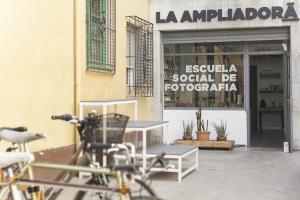 Sede de La Ampliadora, en el corazón del barrio de la Magdalena.