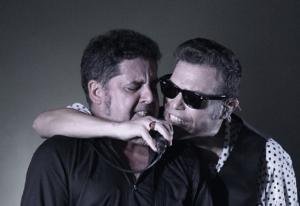 José Ignacio Lapido y José Antonio García, en uno de los conciertos de la gira.