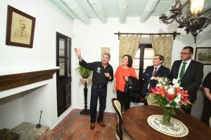Carmen Linares, en la Casa Museo de Federico.