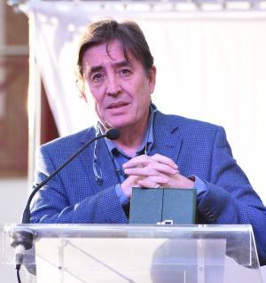 Luis García Montero, en una imagen de archivo, al recibir el Pozo de Plata.