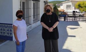 La vicepresidenta primera de Diputación y la alcaldesa de Montillana.