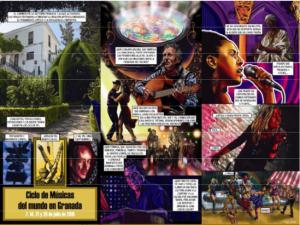 Cartel del ciclo 'Músicas del mundo'.