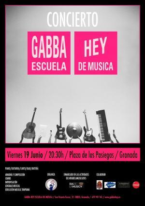 Cartel anunciador del concierto del viernes.