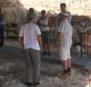 Los trabajos arqueológicos, de nuevo en marcha.
