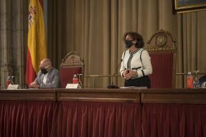 Pilar Aranda, en el acto de entrega de los Premios de la UGR.