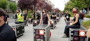 Una de las protestas del colectivo, agrupados en Alerta Roja..