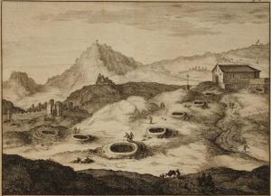Pietr Van der Aa estuvo en Granada en 1707 y todavía vio abiertas, y dibujó en su cuaderno de viajes, la mayoría de mazmorras por debajo del Convento de Carmelitas (los Mártires).