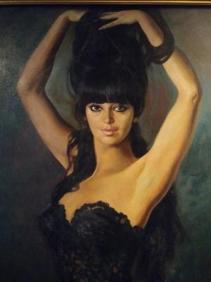 Retrato de Gracia Sacromonte en 1968, por Enrique Navarro.