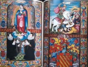 Carta ejecutoria de hidalguía de Baltasar de Barahona y Agustina de Moncayo, vecinos de Granada, 1611. El autor de retratos y pinturas es desconocido.