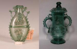 Dos modelos de jarra castrileña pertenecientes a las colecciones del Museo del Prado y del Museo Arqueológico de Granada.