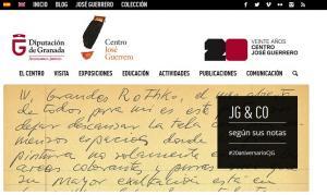 Captura de la portada de la web del museo.