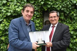 García Montero y Entrena, este miércoles en Fuente Vaqueros.