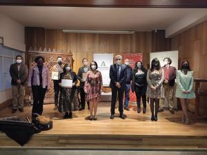 La entrega de premios ha sido en el salón de actos de la Escuela de Arte de Granada.