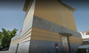 Fachada trasera y lateral del Teatro José Tamayo, que servirá de lienzo a los artistas urbanos.