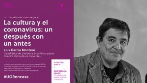 Cartel de la conferencia de Luis García Montero.