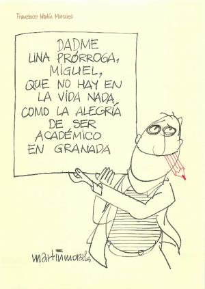 Dibujo que acompañó a la carta con la que pidió, en 2005, la prórroga para presentar su discurso de presentación en la Academia.