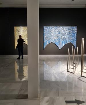 Detalle de la exposición de Jesús Marín.