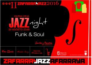 Cartel del festival ZafarraJazz Funk&Soul.