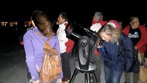 Visitantes en Borreguiles, para ver las e