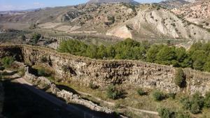 Vista de la Acequia del Toril, de hasta 15 metros de altura.