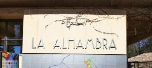 Detalle de la zona de acceso a la Alhambra.