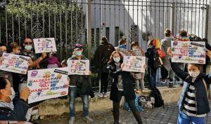 Imagen de una protesta en el colegio Andrés Segovia en noviembre.