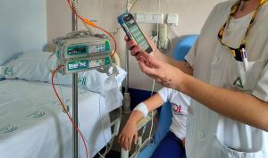 Aplicación de la nueva tecnología para aplicar quimioterapia en Oncopediatría.