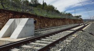 Punto en el que la línea de Alta Velocidad se une al tren convencional y discurre por un trazado del siglo XIX.