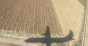 Imagen del último vuelo de Melilla a Granada.