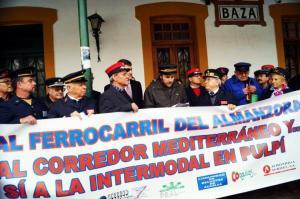 Imagen de una de las protestas para reclamar la reapertura de la línea.