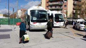 Imagen de archivo de los autobuses alternativos al AVE.