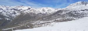 Cara sur de Sierra Nevada, con poca nieve, en una imagen tomada el día 11 de este mes.