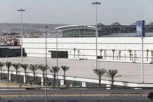 El Centro Nevada en fase de construcción.