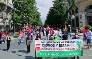 Manifestación convocada por CGT en defensa del sector público.