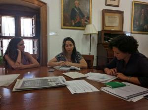 Reunión de Vamos Granada con Pilar Aranda.